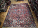 10x12 Authentic Hand Knotted Semi-Antique Persian Heriz Rug - Iran