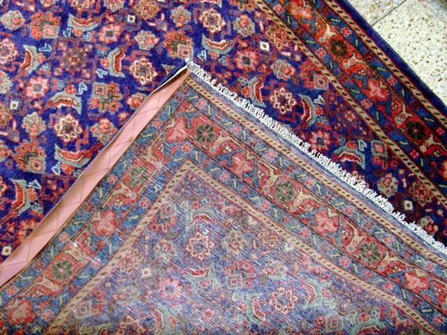 4x11 Authentic Hand Knotted Persian Herati Runner - Iran