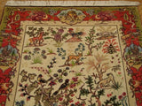 Beautiful 4x5 Beige Authentic Handmade High-End Persian Tabriz Rug- IRAN