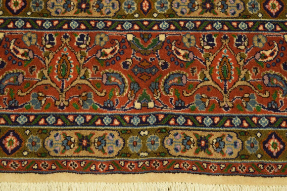 Authentic Hand-Knotted 7x7 Fine Quality Persian Moud Rug - Traditional
