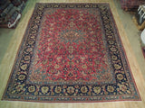Fascinating 10x13 Authentic Hand Knotted Persian Semi-Antique Tabriz Rug - Iran