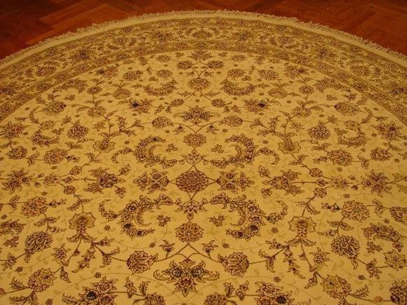 10x10 Authentic Handmade Sino Tabriz Wool & Silk Rug - China