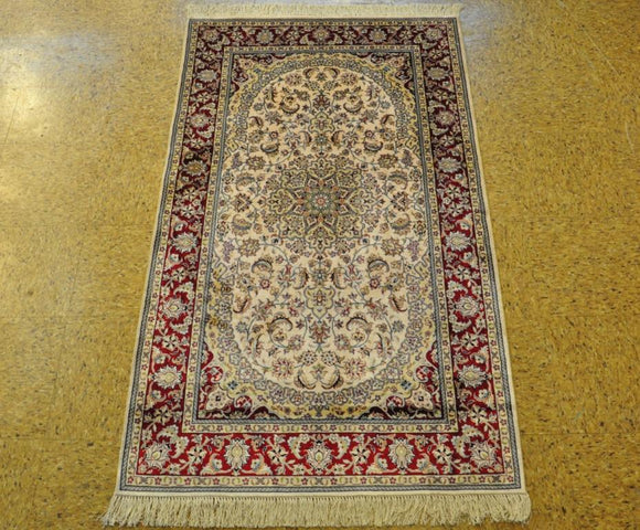 Harooni Originals - 3x5 Authentic Hand Knotted Silk Rug - China