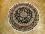 6x6 Authentic Handmade Fine Quality Wool&Silk Round Rug - China