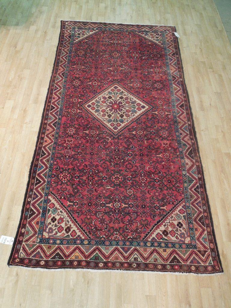 5x11 Authentic Hand Knotted Semi-Antique Persian Herati Runner - Iran