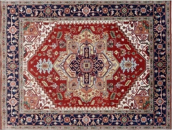 9x12 Authentic Hand Knotted Serapi Rug - India