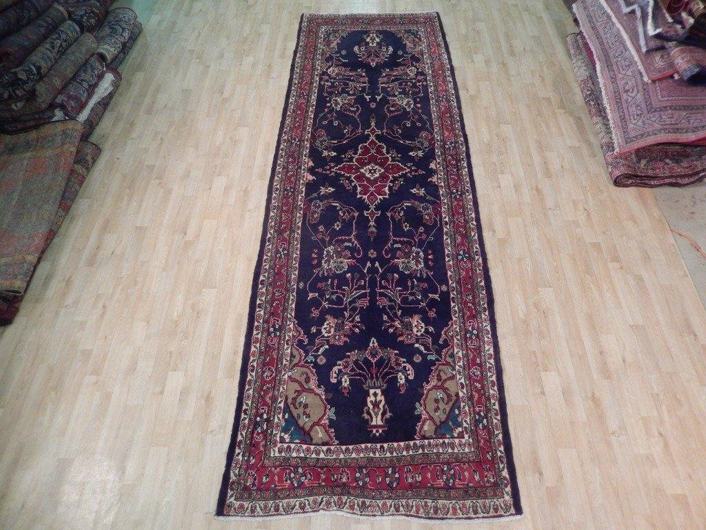 4x13 Authentic Handmade Semi-Antique Persian Hamadan Runner - Iran