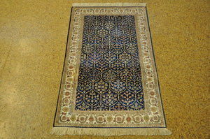 3x5 Authentic Hand-Knotted Silk Rug - China