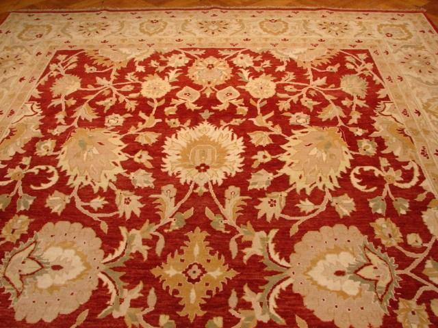 10x15 Authentic Handmade Vegetable Dye Agra Rug-India