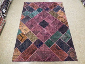 7x10 Authentic Handmade Antique Persian Patchwork Rug - Iran
