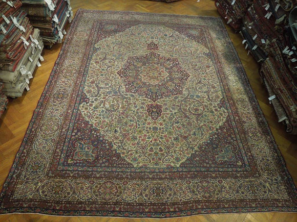 12x16 Authentic Hand Knotted Antique Persian Rug - Iran