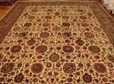 Harooni Rugs - Vintage 11x15 Authentic Handmade Silk&Wool Sino Tabriz Rug-China