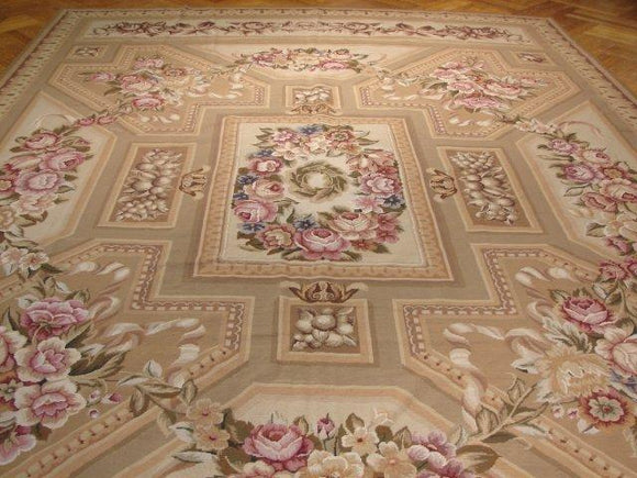 10x14 Authentic Handmade Needlepoint Rug - China