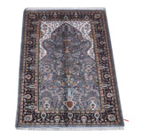 Harooni Rugs - Dazzling 3x5 Authentic Hand Knotted Jammu Kashmir Silk Rug - India