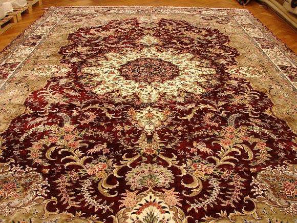 12x18 Authentic Handmade Art Silk Rug