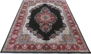 Dazzling 8x10 Authentic Hand Knotted Jammu Kashmir Silk Rug - India