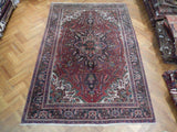 Harooni Rugs - Premium 8x12 Authentic Handmade Semi-Antique Persian Heriz Rug - Iran