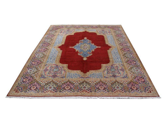 10 x 13 Authentic Hand Knotted Traditional Kerman Rug - Traditional