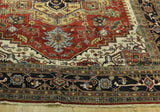 Harooni Rugs - Dazzling 11x15 Authentic Hand-knotted Traditional Serapi - Rug