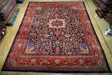 Harooni Rugs - Vintage 9x13 Authentic Hand Knotted Semi-Antique Persian Mahal Rug - Iran