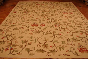 9x13 Authentic Handmade Aubusson Flat Weave Rug-China
