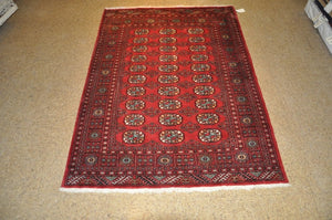Harooni Originals - 5x7 Authentic Hand-Knotted Bokhara Rug - Pakistan