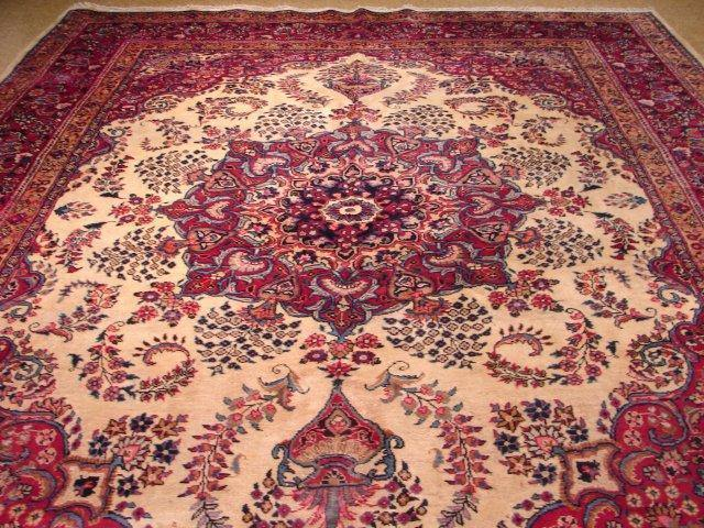 10x13 Authentic Handmade Persian Mashad Rug
