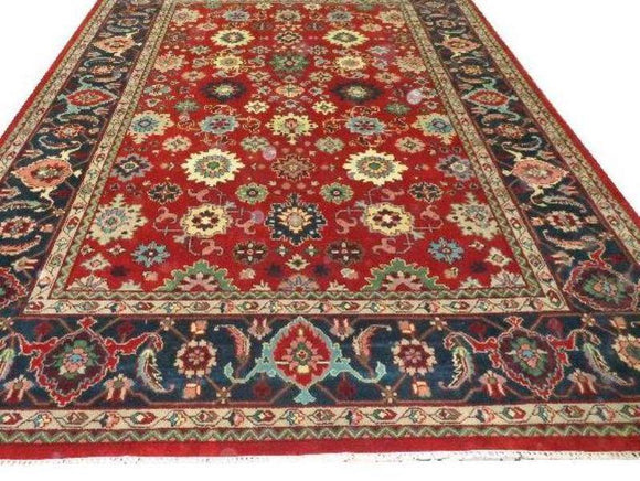 10 x 14 Authentic Hand Knotted Serapi Rug - India