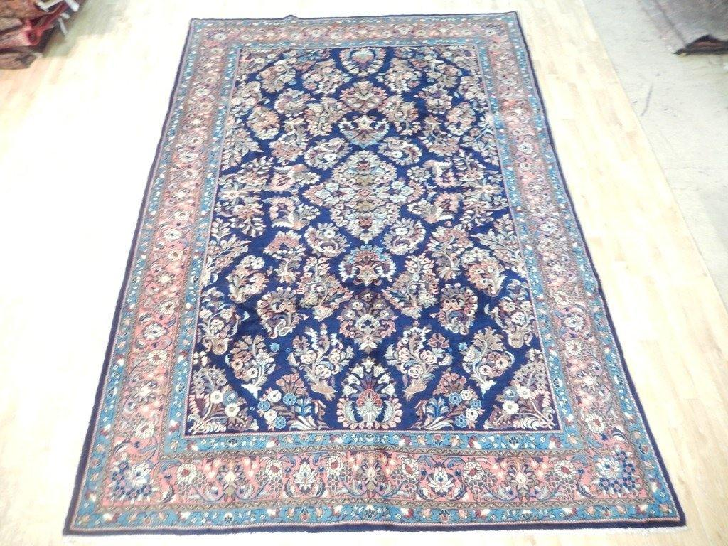 7x10 Authentic Hand Knotted Semi-Antique Persian Sarouk Rug - Iran - bestrugplace