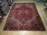 10x13 Authentic Hand-Knotted Antique Persian Heriz Rug - Iran