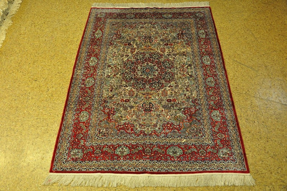 Harooni Rugs - Authentic Hand-Knotted 4x0 Silk Rug - China