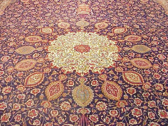 Dazzling 13x20 Authentic Handmade Super Fine Persian Rug - Iran