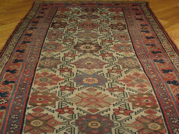 4x17 Authentic Handmade Antique Persian Mahal Runner