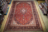 10x14 Authentic Hand Knotted Classic Persian Kashan Rug - Iran