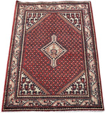 3x3 Authentic Hand-knotted Persian Hamadan Rug - Iran