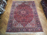 Harooni Rugs - Premium 9x12 Authentic Handmade Semi-Antique Persian Heriz Rug - Iran