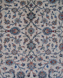 11x14 Authentic Hand-knotted Persian Signed Kashan Rug - Iran