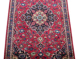 Harooni Rugs - Vintage 3x6 Authentic Hand-knotted Persian Kashmar Rug - Iran