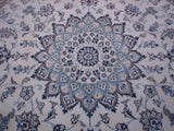 7x7 Authentic Handmade Persian Nain Rug