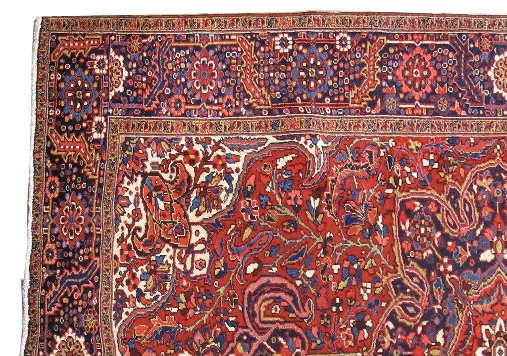 8x12 Authentic Hand Knotted Persian Heriz Rug - Iran - bestrugplace