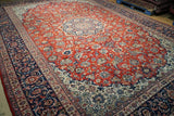 11x16 Authentic Hand Knotted Najaf Persian Isfahan Rug - Iran