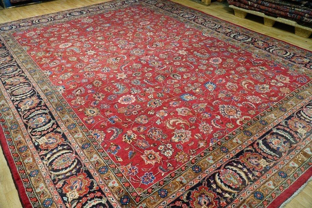 10x13 ALLOVER PATTERN Authentic Hand Knotted Fine Quality Persian Tabriz Rug - Iran