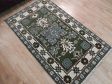 Harooni Rugs - Dazzling 3x5 Authentic Hand Knotted Kazak Rug - India