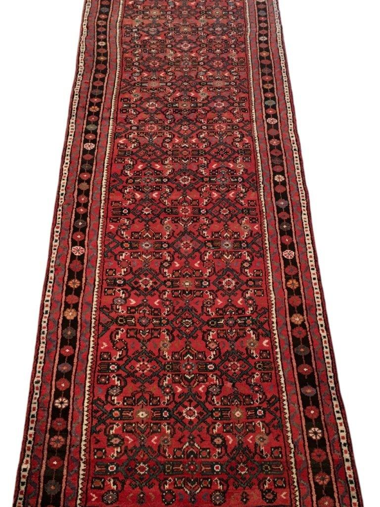 3x10 Authentic Hand-knotted Persian Hamadan Rug - Iran
