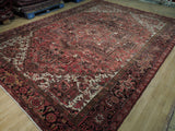 9x13 Authentic Hand-Knotted Persian Heriz Rug - Iran