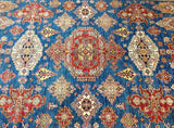 9 x 12 Authentic Hand-Knotted Super Kazak Rug - Pakistan