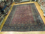 Harooni Rugs - Pristine 11x14 Authentic Hand Knotted Antique Persian Rug - Iran