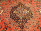Harooni Rugs - Vintage 11x18 Authentic Handmade Persian Kashan Classic Rug-Iran