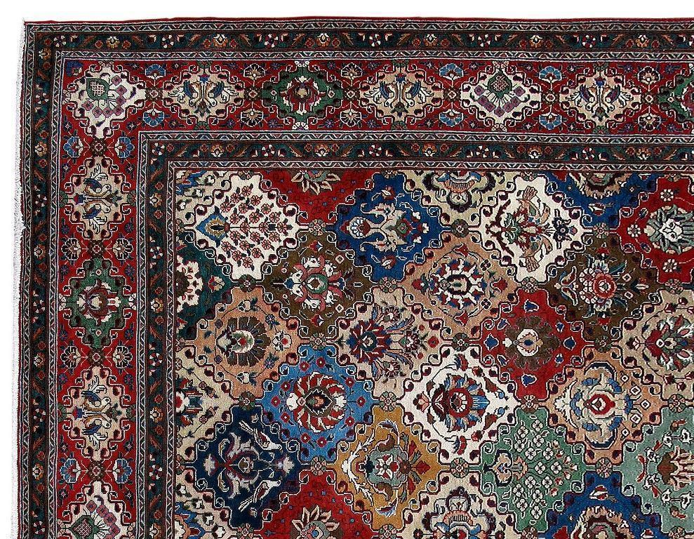 10x13 Authentic Hand Knotted Persian Tabriz Rug - Iran