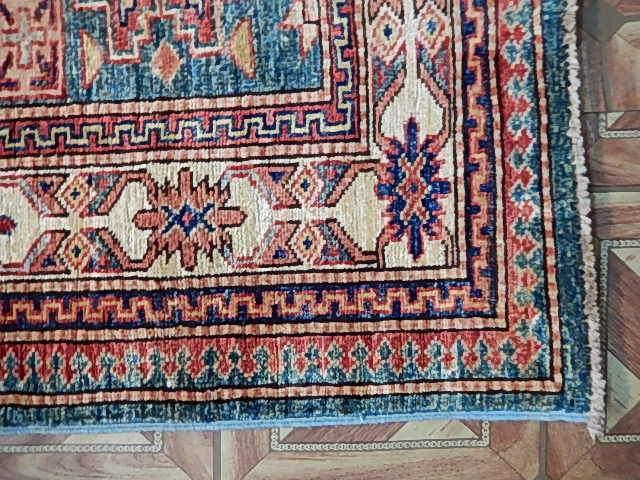 Stunning 3x11 Authentic Hand Knotted Super Kazak Rug - Pakistan